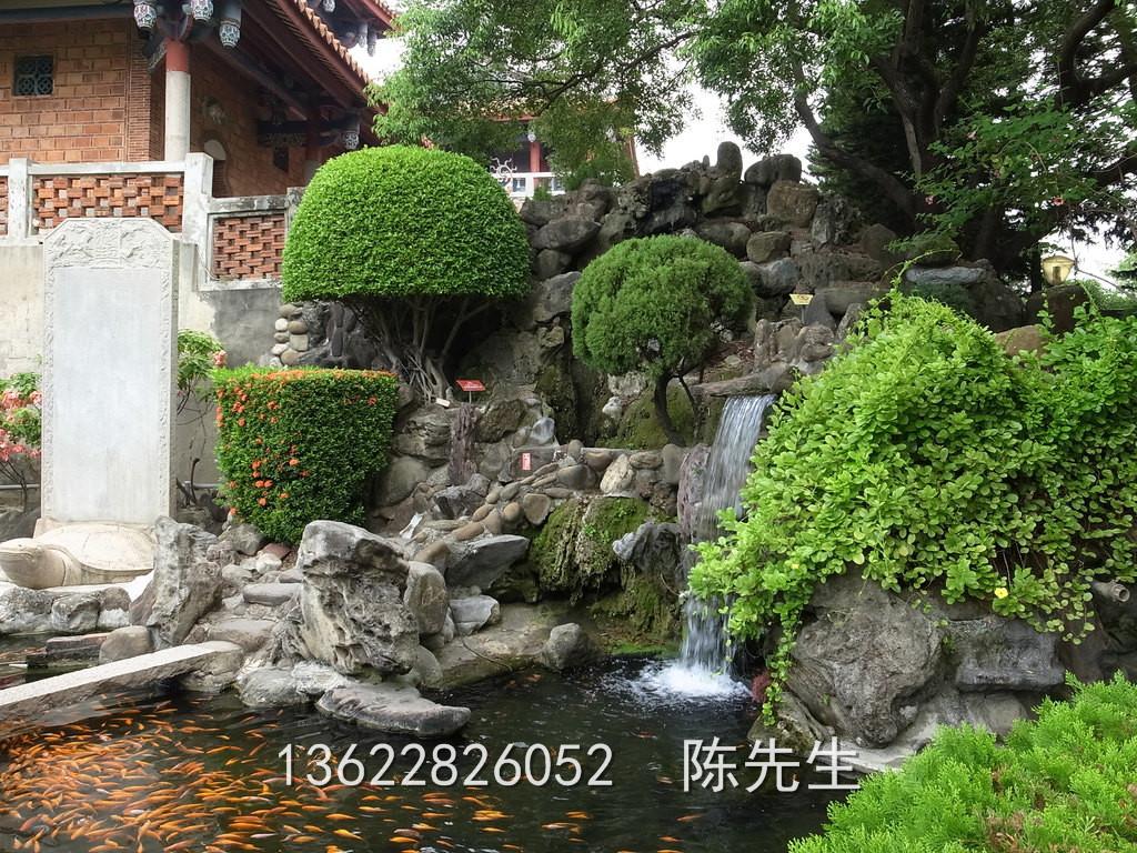 惠州假山鱼池|惠州室内假山鱼池@假山鱼池设计施工